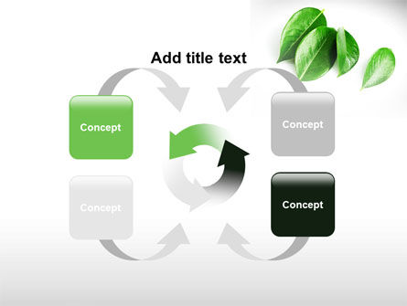 Green Leaves PowerPoint Template Slide 6