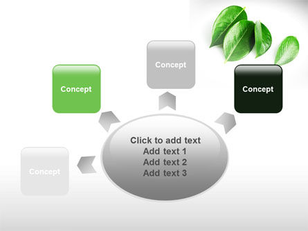 Green Leaves PowerPoint Template Slide 7