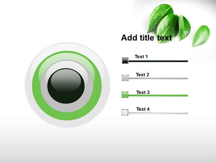 Green Leaves PowerPoint Template Slide 9