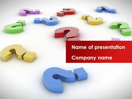 Consulting: Question Marks In Various Colors PowerPoint Template #08641