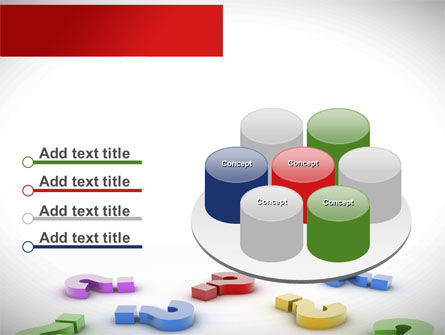 Question Marks In Various Colors PowerPoint Template Slide 12