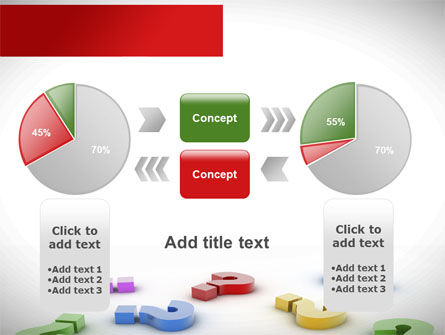 Question Marks In Various Colors PowerPoint Template Slide 16