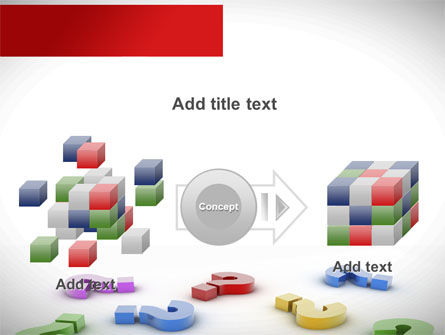 Question Marks In Various Colors PowerPoint Template Slide 17