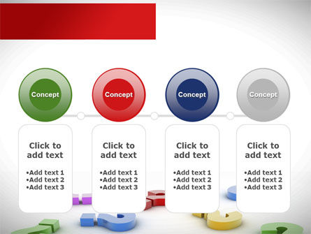 Question Marks In Various Colors PowerPoint Template Slide 5
