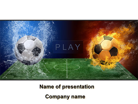 Football League Free PowerPoint Template, 08644, Sports — PoweredTemplate.com