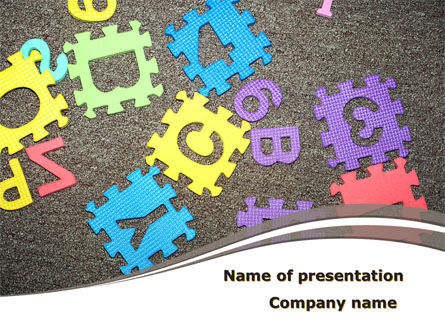 Cognitive Puzzles PowerPoint Template, 08646, Education & Training — PoweredTemplate.com