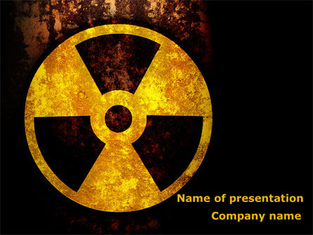 Radioactivity PowerPoint Template, 08649, Military — PoweredTemplate.com