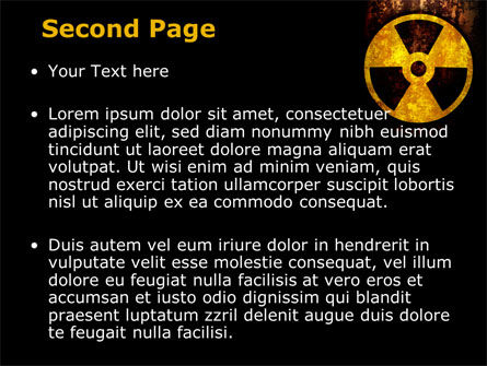 Radioactivity PowerPoint Template, Slide 2, 08649, Military — PoweredTemplate.com