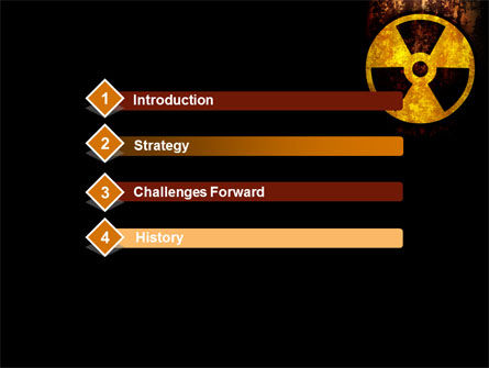 Radioactivity PowerPoint Template, Slide 3, 08649, Military — PoweredTemplate.com
