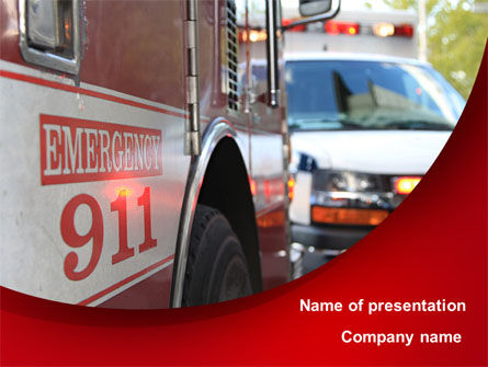 Emergency 911 PowerPoint Template, 08652, Medical — PoweredTemplate.com