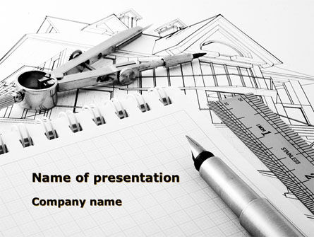 Careers/Industry: Scale Drawing PowerPoint Template #08655