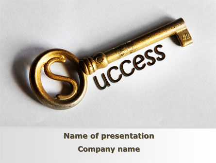 Key To Reach Success PowerPoint Template, 08657, Consulting — PoweredTemplate.com
