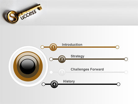 Key To Reach Success PowerPoint Template Slide 3