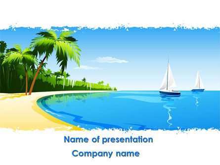 Memorable Vacation Free PowerPoint Template, 08658, Careers/Industry — PoweredTemplate.com
