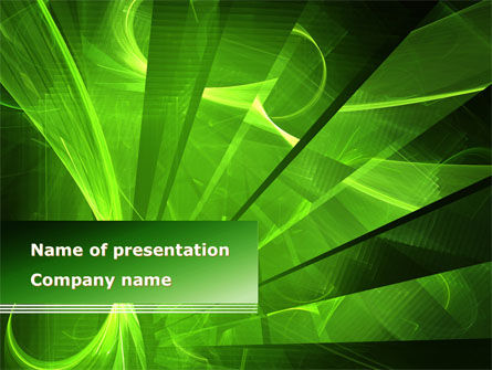 Abstract/Textures: Green Abstract Stripes PowerPoint Template #08659