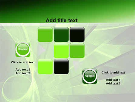 Green Abstract Stripes PowerPoint Template Slide 16