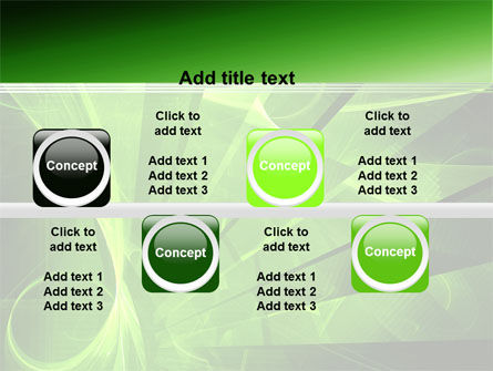 Green Abstract Stripes PowerPoint Template Slide 19