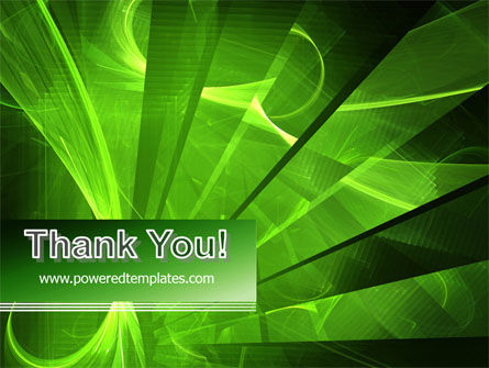 Green Abstract Stripes PowerPoint Template Slide 20