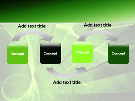Green Abstract Stripes PowerPoint Template Slide 4