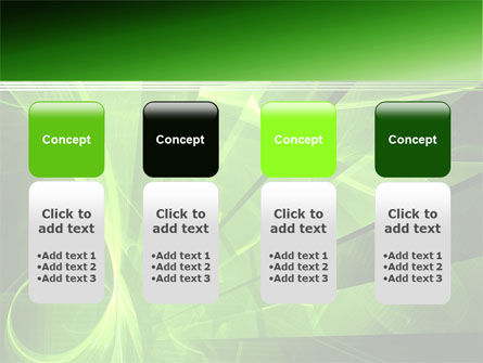 Green Abstract Stripes PowerPoint Template Slide 5
