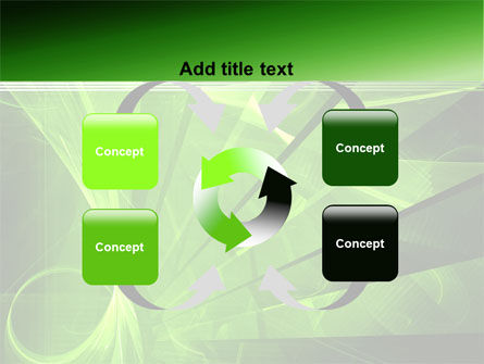Green Abstract Stripes PowerPoint Template Slide 6