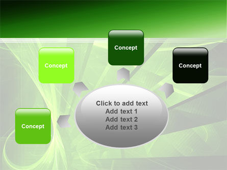Green Abstract Stripes PowerPoint Template Slide 7