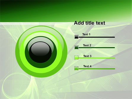 Green Abstract Stripes PowerPoint Template Slide 9