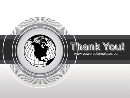 Globe In A Grayscale PowerPoint Template Slide 20