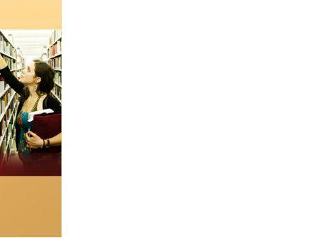Bookshelves of Library Free PowerPoint Template, Slide 3, 08664, Education & Training — PoweredTemplate.com