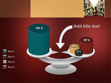Free Bookshelves of Library PowerPoint Template Slide 10