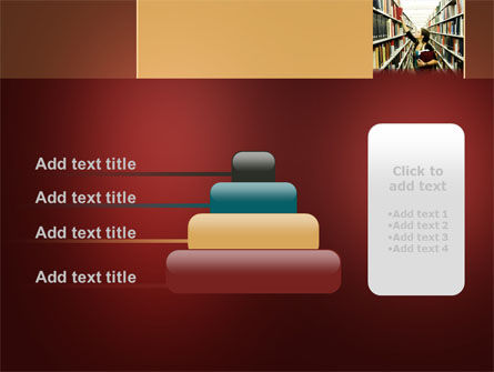 Bookshelves of Library Free PowerPoint Template Slide 8