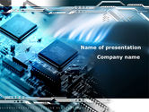 Technology and Science: Chip Board PowerPoint Template #08666