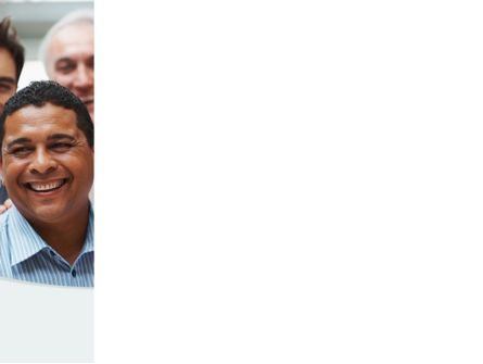 Smiling Team PowerPoint Template, Slide 3, 08668, People — PoweredTemplate.com
