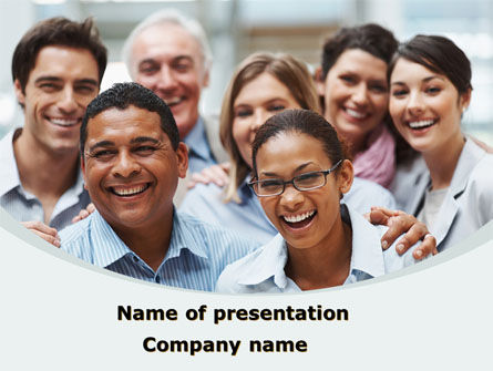 Smiling Team PowerPoint Template