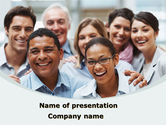 People: Smiling Team PowerPoint Template #08668