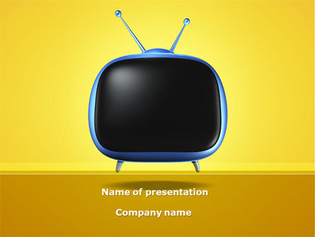 Analog Television PowerPoint Template, 08671, Careers/Industry — PoweredTemplate.com