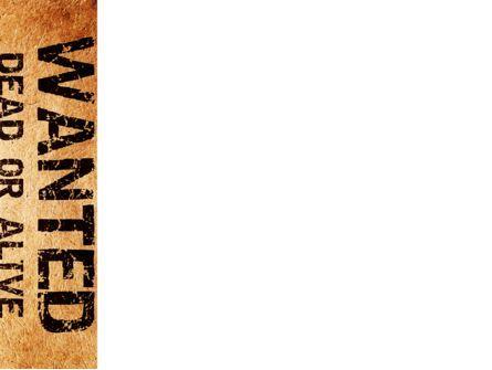 Wanted Criminal PowerPoint Template, Slide 3, 08672, Legal — PoweredTemplate.com