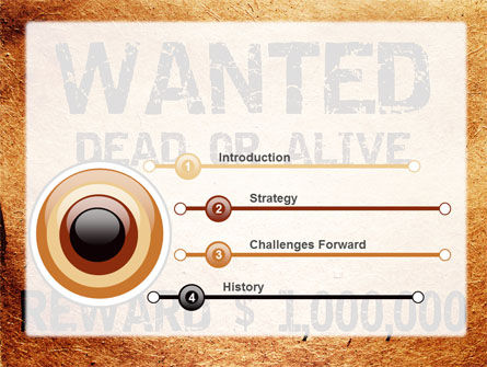 Wanted Criminal PowerPoint Template, Slide 3, 08672, Legal — PoweredTemplate.com