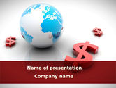 Financial/Accounting: World Money PowerPoint Template #08676