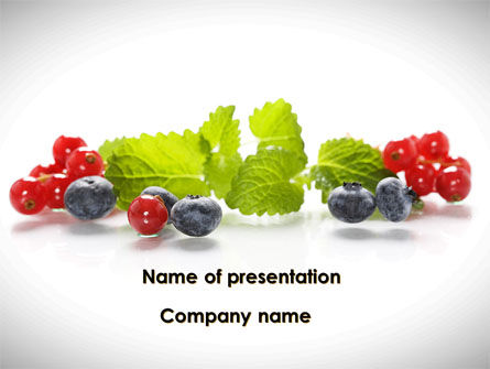 Food & Beverage: Cranberries Flavor PowerPoint Template #08677