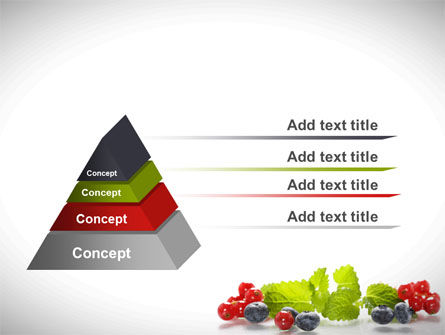 Cranberries Flavor PowerPoint Template, Slide 4, 08677, Food & Beverage — PoweredTemplate.com
