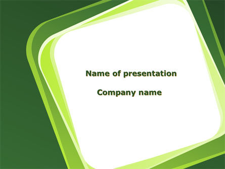 Abstract/Textures: Green Frame PowerPoint Template #08678