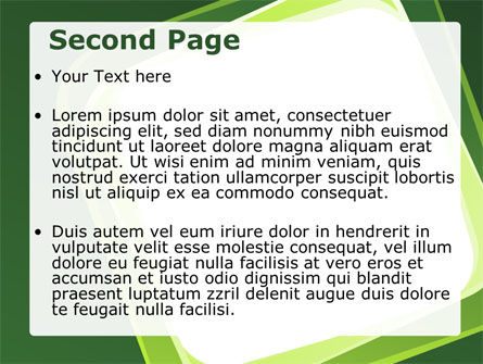 Green Frame PowerPoint Template Slide 2