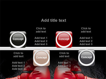 Red Boxing Gloves PowerPoint Template Slide 18