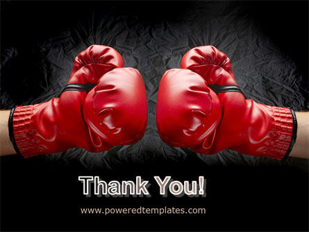 Red Boxing Gloves PowerPoint Template Slide 20