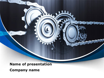 Integral Parts PowerPoint Template, 08681, Utilities/Industrial — PoweredTemplate.com