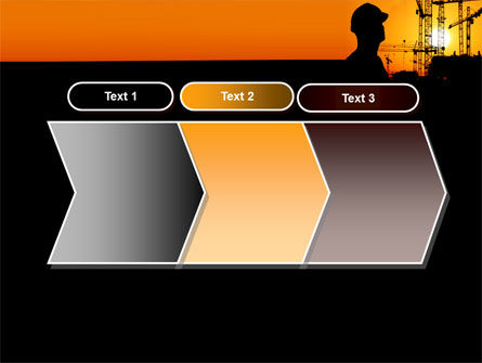 City Silhouette On The Sunset PowerPoint Template Slide 16