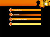 City Silhouette On The Sunset PowerPoint Template#3