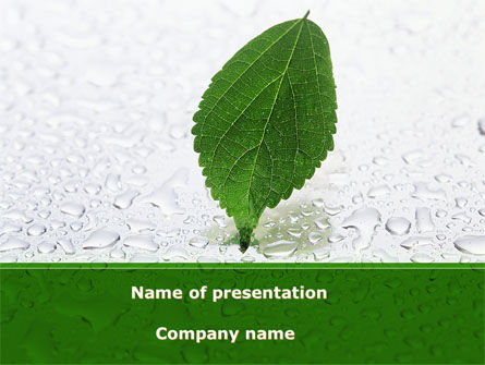 Nature & Environment: Hydroponics PowerPoint Template #08683