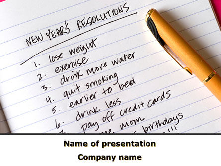 Consulting: New Year Resolutions PowerPoint Template #08685